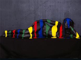 奔跑的颜色:艺术家打造奇幻彩绘作品
