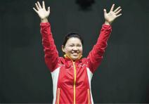 里约奥运会中国代表团首金获得者:张梦雪