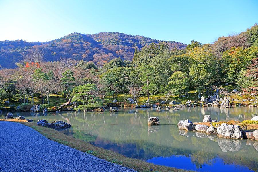 京都:天龙寺之庭院景色(二)
