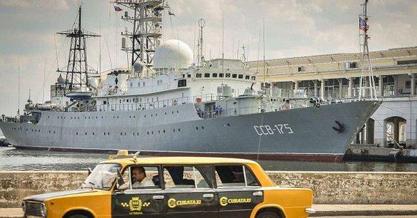 俄侦察舰抵近美国本土潜艇基地