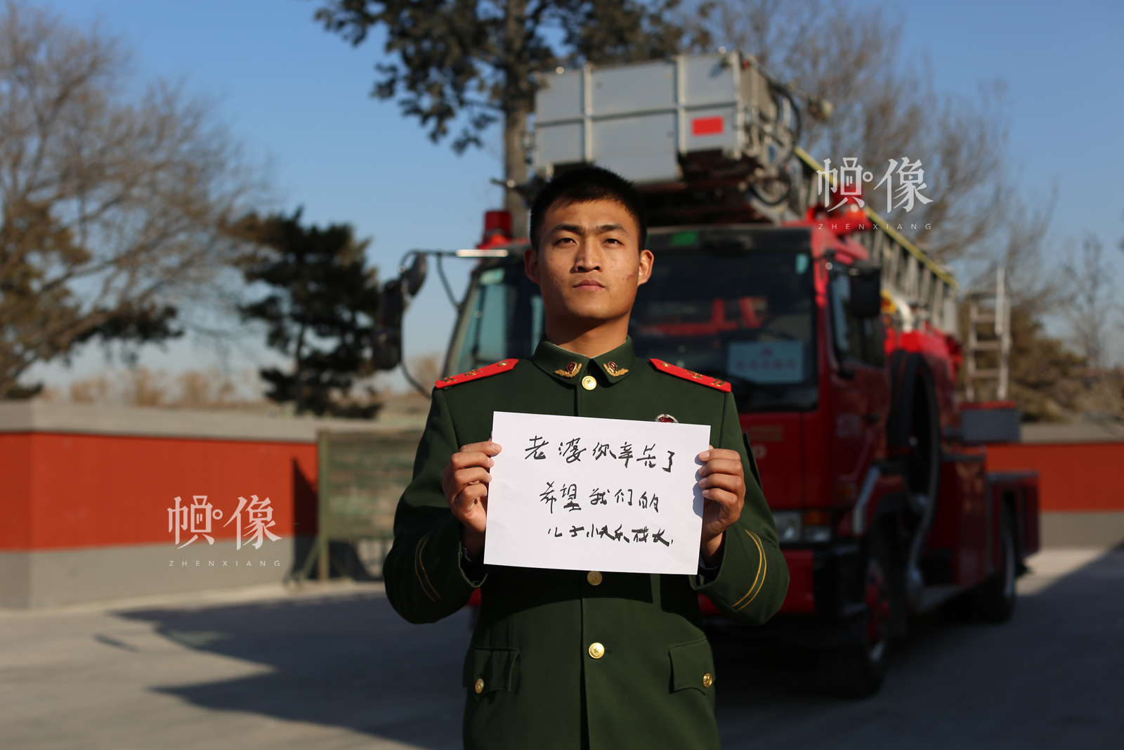 图为故宫消防刘冰。中国网记者 王名扬摄