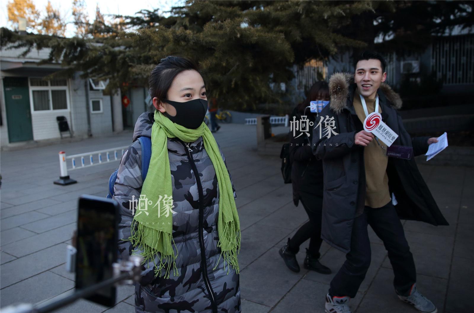 2017年2月10日,北京电影学院,林妙可亮相考场。中国网记者陈维松 摄
