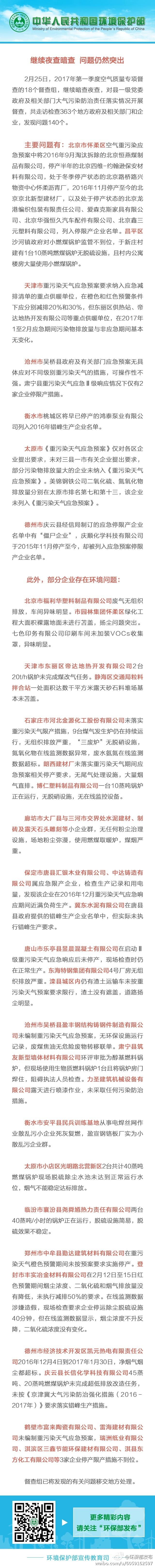 环保部:有地方将已停产公司列入错峰生产名单