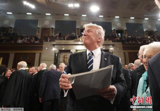外媒:特朗普国会演讲比奥斯卡收视人数多1000万