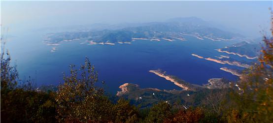 蓝色花亭湖
