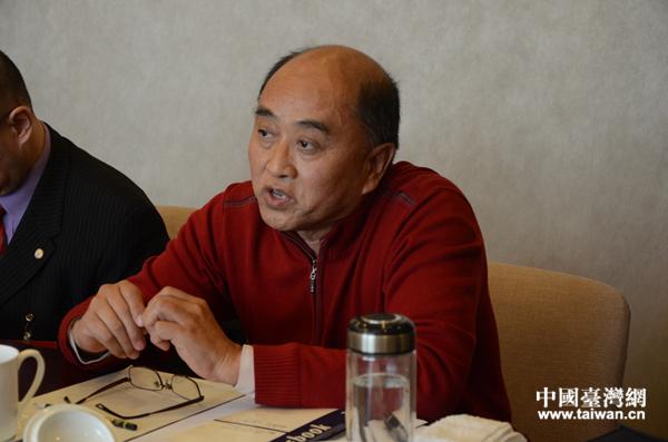 台籍委员、著名导演雷献禾。(中国台湾网 李宁 摄)