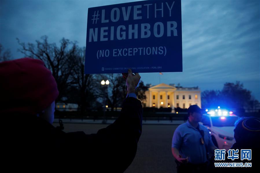 (外代一線)(1)美國民眾抗議新移民限令