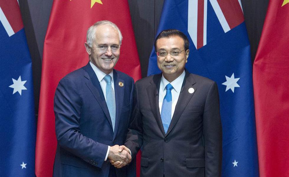 李克强会见澳大利亚总理特恩布尔