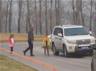 北京野生动物园虎区有游客下车 首次劝阻未听
