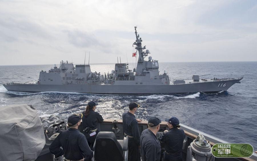 日本DD116照月号驱逐舰抵达南海