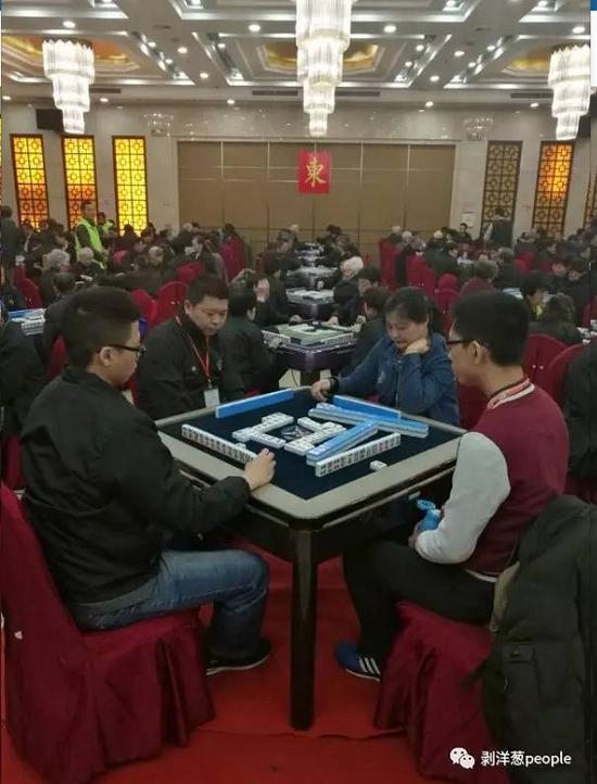 第十八届中国麻将牌王赛暨大师赛的比赛现场。新京报记者杨静茹 摄
