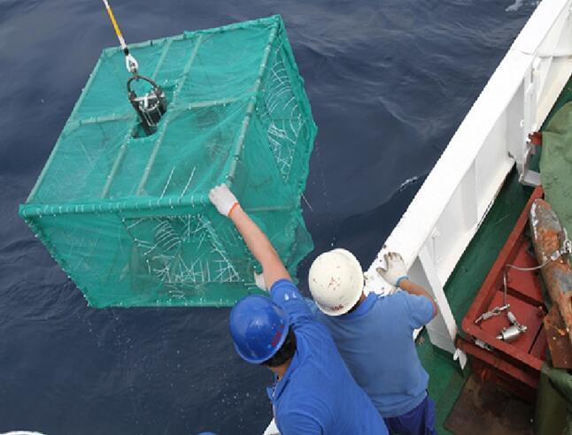 大洋38航次科考队成功回收诱捕器