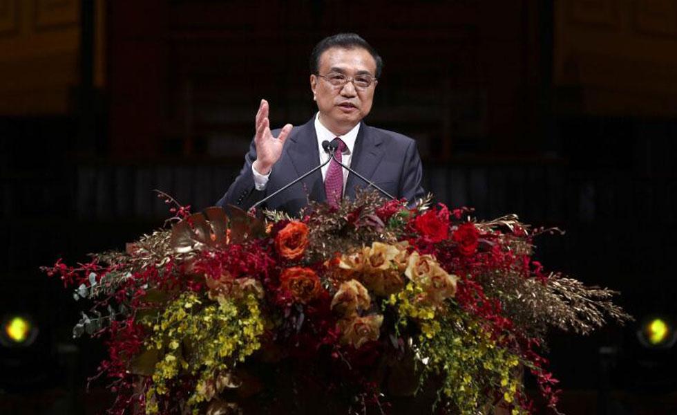 李克强出席在澳华侨华人举行的欢迎晚宴