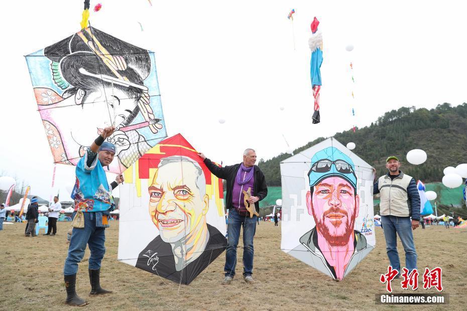 海内外百余支风筝队齐聚贵州 上演天空派对