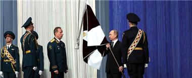 俄國民近衛軍慶祝首個節日 普京授旗
