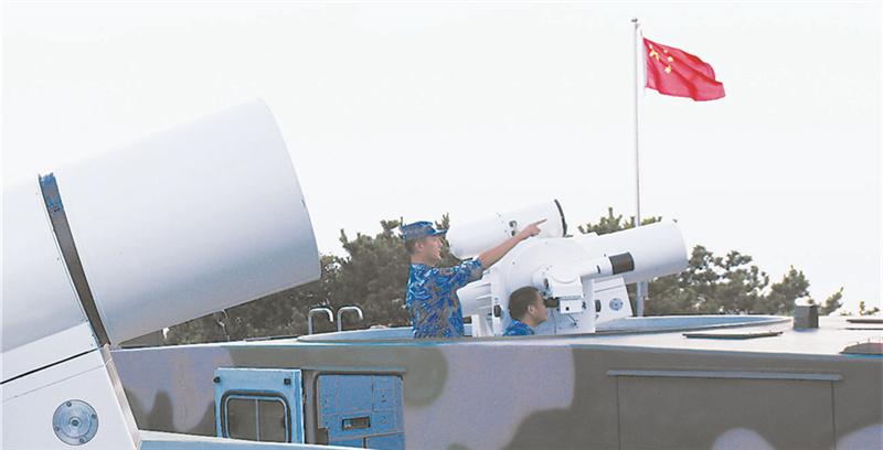 渤海小岛的小个子班长高个子兵