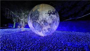重庆一景区6000万盏彩灯营造视觉盛宴