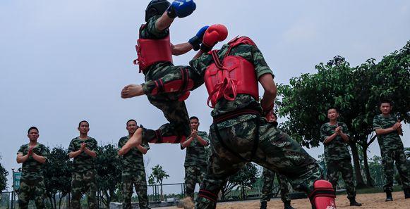 """军营版""""武林风""""在武警8681部队训练场上演"""