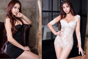 韩美女车模私照甜美