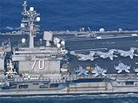 美国'卡尔·文森'号航母29日驶离日本长崎向朝鲜半岛进发