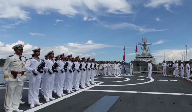 中国海军远航访问编队抵达菲律宾进行友好访问