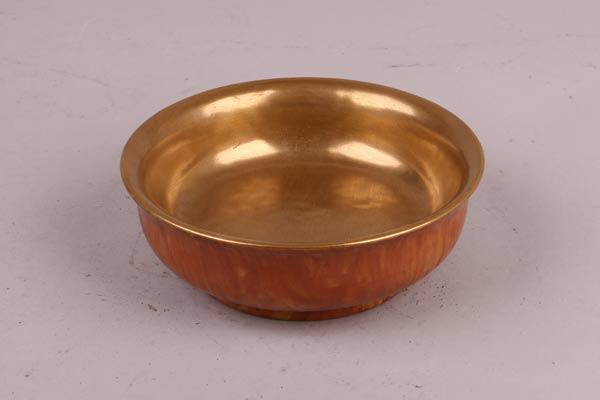 清乾隆金漆里仿木纹碗