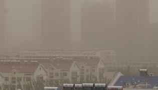 内蒙古通辽空气污染严重 黄沙漫天