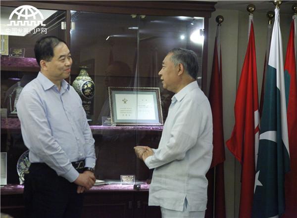 李若弘会见世界运河历史文化城市合作组织主席朱民阳一行