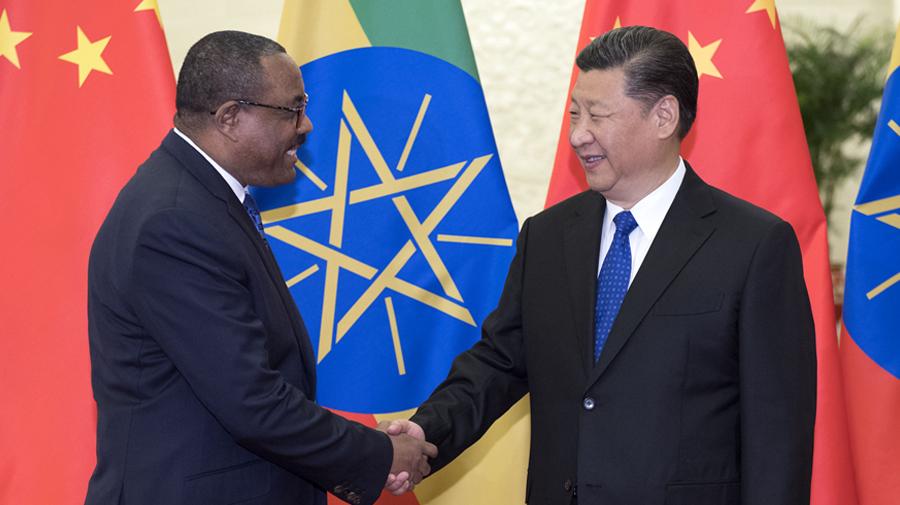 习近平会见埃塞俄比亚总理海尔马里亚姆