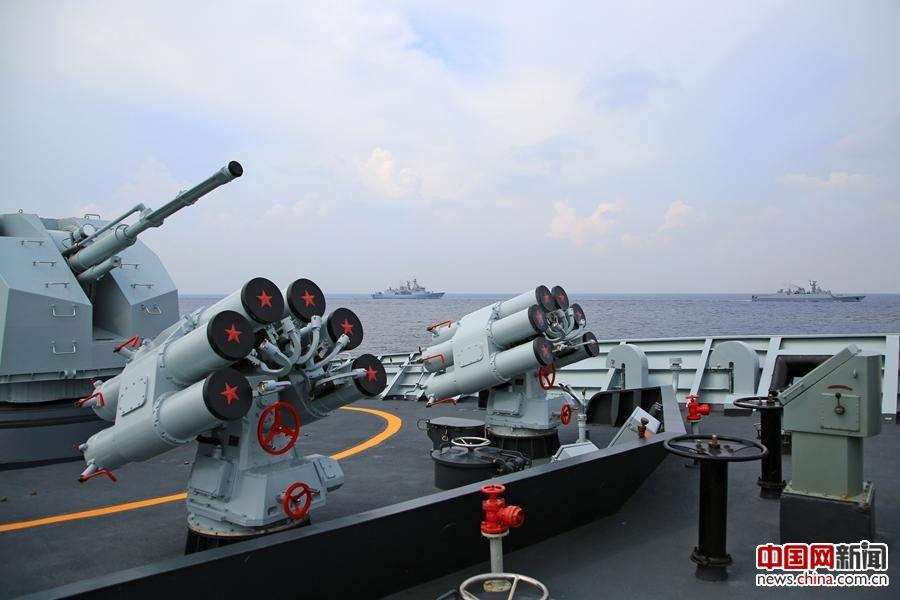 黄山舰抵达新加坡参加西太海军论坛多边海上联合演习