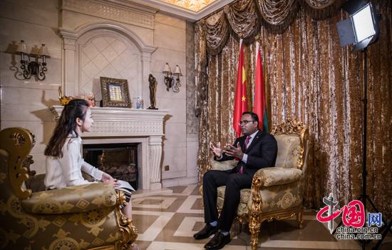 """马尔代夫驻华大使:全力支持""""一带一路""""倡议"""