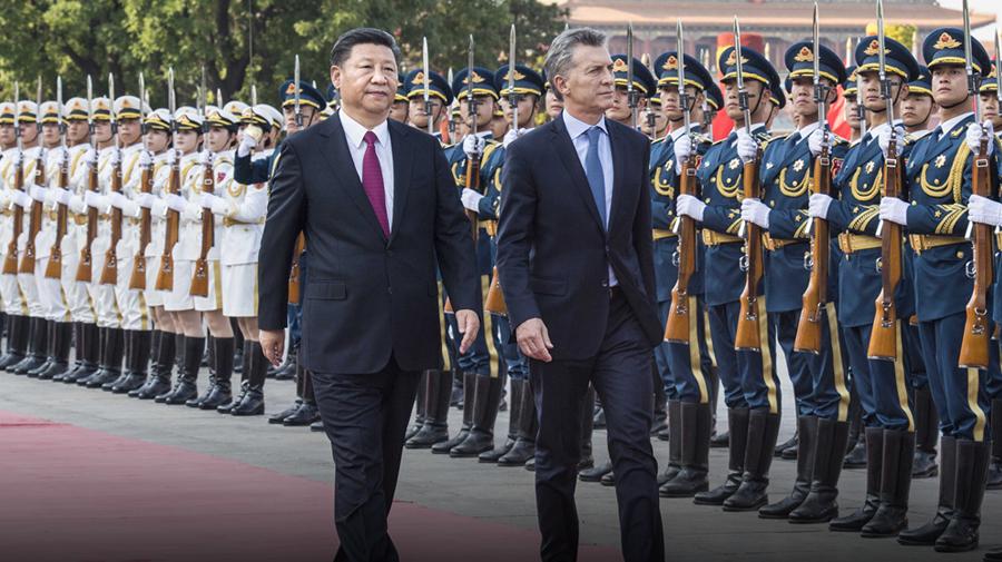 习近平同阿根廷总统马克里举行会谈