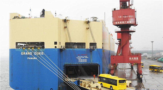 中国客车出口缅甸 踏上海上丝路航程