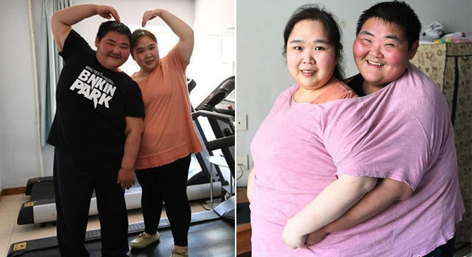 """肥胖夫妻减重近400斤 完善身体准备""""造人"""""""