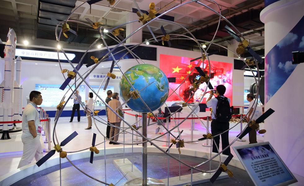 北斗导航卫星星座模型亮相2017北京科博会