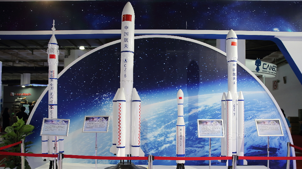 长征系列运载火箭模型集体亮相2017北京科博会