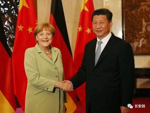 """(圖:在特朗普説德國人""""很壞很壞""""的同時,中國晉陞為德國最重要的戰略夥伴。)"""