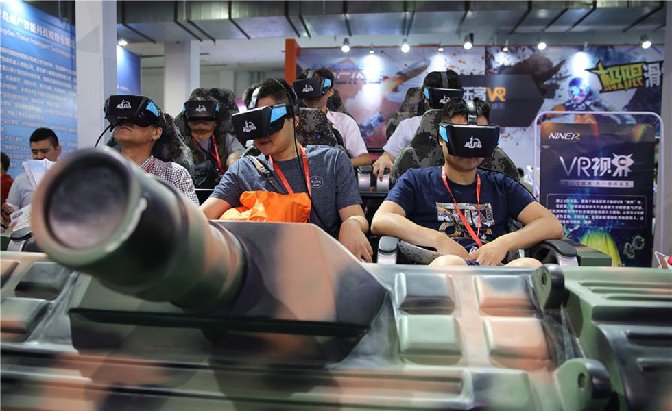 2017北京科博会:VR游戏体验展区受观众热捧