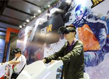 VR游戏体验展区受观众热捧