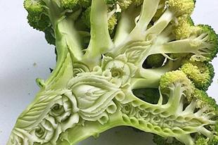 澳男子微雕技术高超 蔬果雕刻栩栩如生