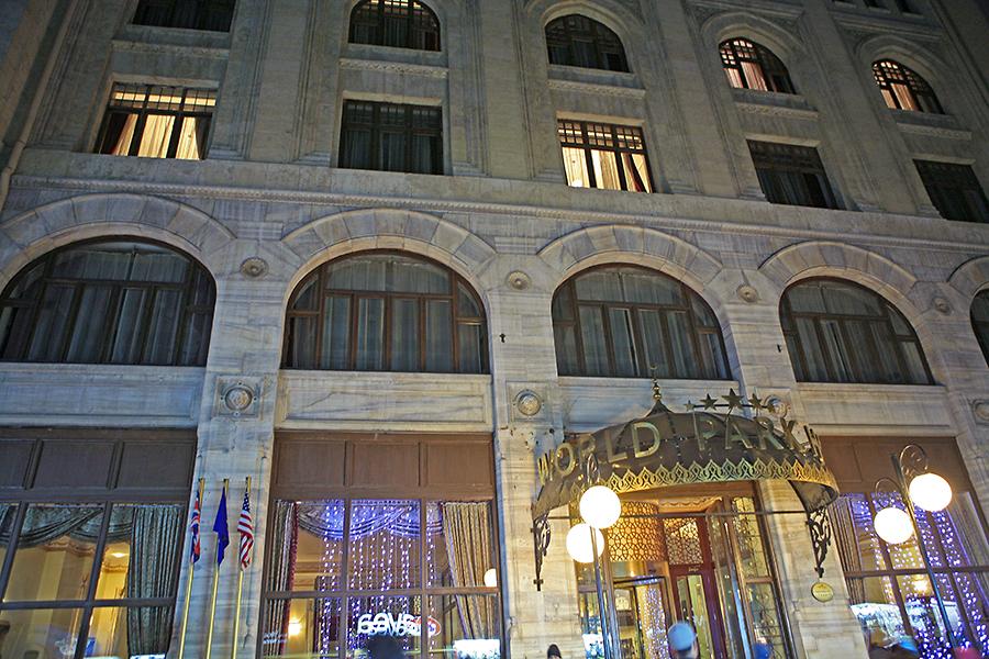 我的酒店WORLD PARK HOTEL距离新清真寺不远