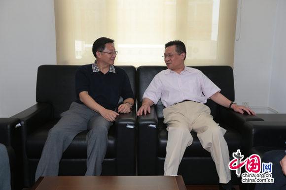 孙先德会见中国互联网新闻中心总编辑王晓辉