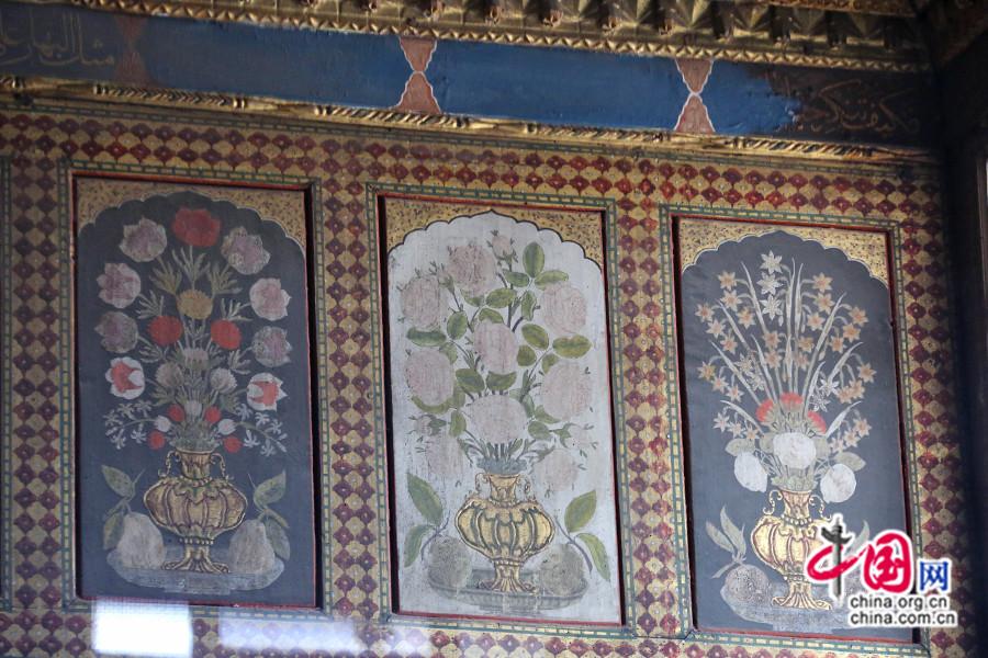 艾哈迈德三世私人宫殿餐厅彩绘有水果与花卉