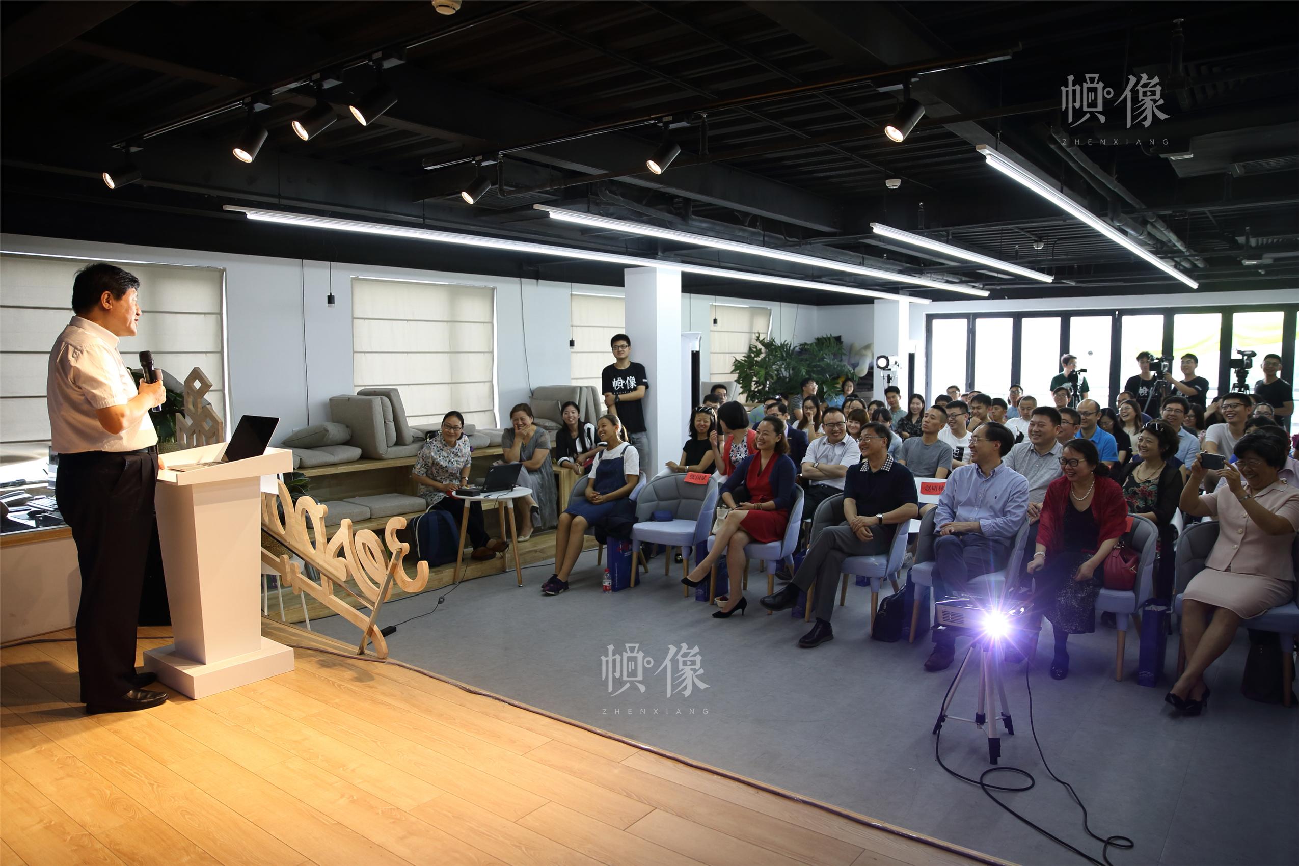 2017年6月17日,北京,察哈尔学会秘书长、中国驻法国斯特拉斯堡总领馆前总领事张国斌分享经历。当日,《帧像·故事中国》第二期线下沙龙举行。中国网记者 陈维松 摄