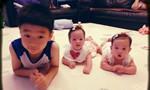 放假啦!杨阳洋陪妹妹玩耍 儿子像妈女儿像爸