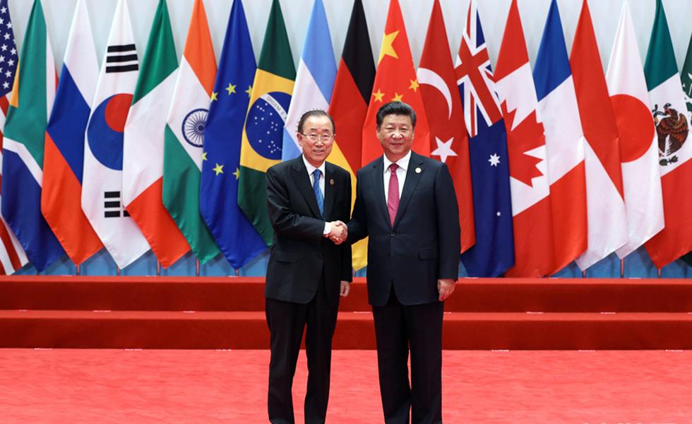 习近平迎接出席二十国集团领导人杭州峰会的各国领导人、国际组织负责人