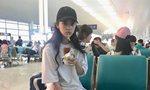 欧阳娜娜机场大口吃汉堡 发现被偷拍后神变脸