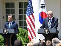特朗普強調美韓公平分擔安全防務費用及貿易互惠[組圖]