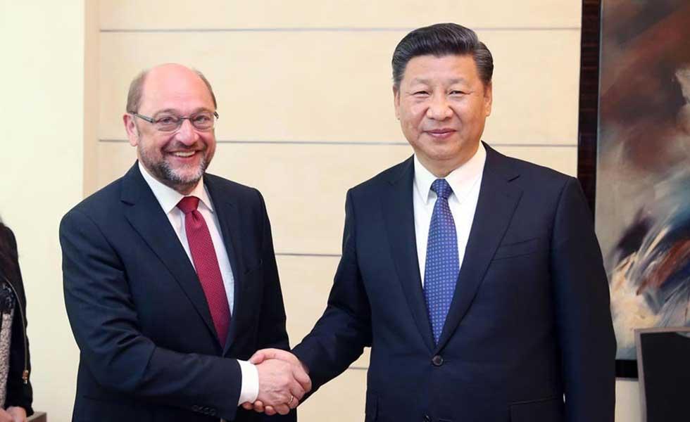 习近平会见德国社会民主党主席舒尔茨