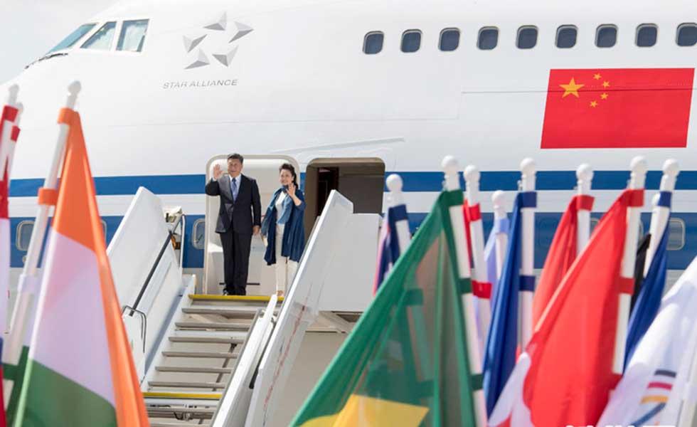 习近平抵达德国汉堡出席G20峰会